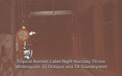 29th Nov 2018 : Tropical Animals Label Night with WHITESQUARE, DJ OCTOPUS and TA SOUNDSYSTEM