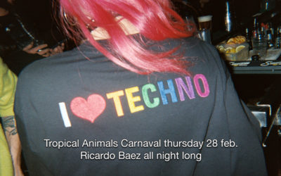 28th Feb 2019 : Tropical Animals Carnival Party – Ricardo Baez All night long